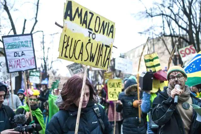 09.03.19 Warszawa. Marsz dla Amazonii.