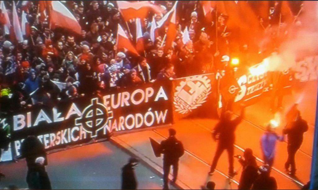 Kumple Bosaka na tzw. Marszu Niepodległości.