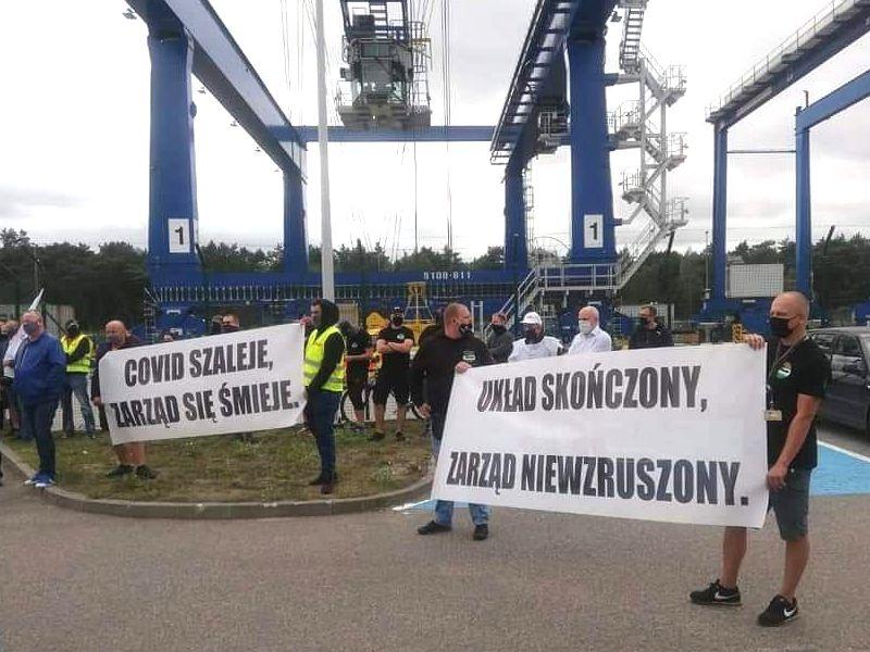 04.09.20 Protest pracowników DCT Gdańsk S.A.