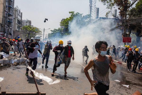 Mjanma: policja strzela do ludzi