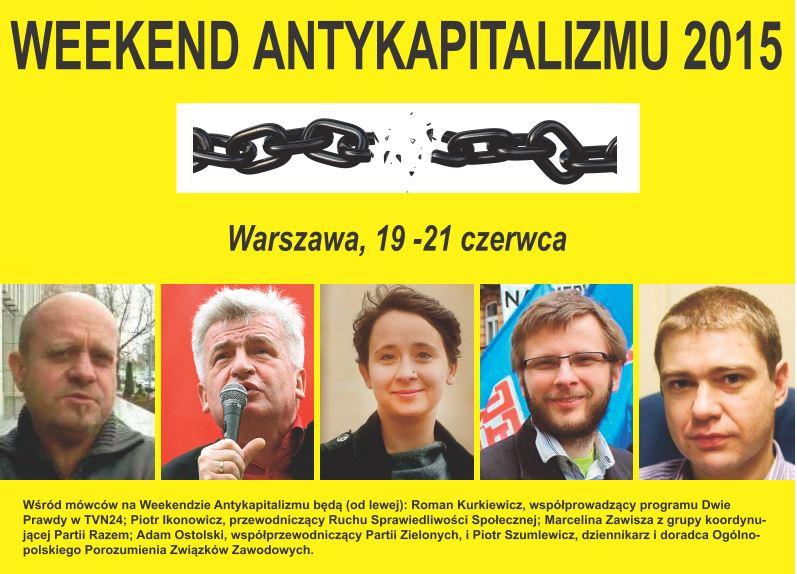 Reklama Weekend Antykapitalizmu 2015