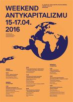 Plakat Weekend Antykapitalizmu 2016