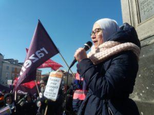 17.03.18 Warszawa. Przemawia Lubna Al-Hamdami.