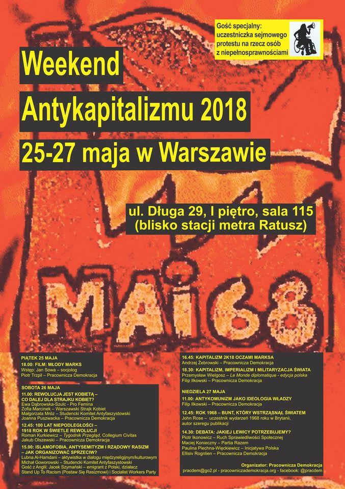 Plakat – Weekend Antykapitalizmu 2018