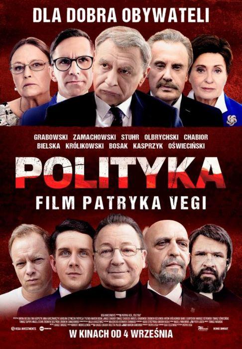 "Plakat filmu ""Polityka""."