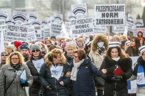 18.01.20 Rzeszów,. Protest pielęgniarek