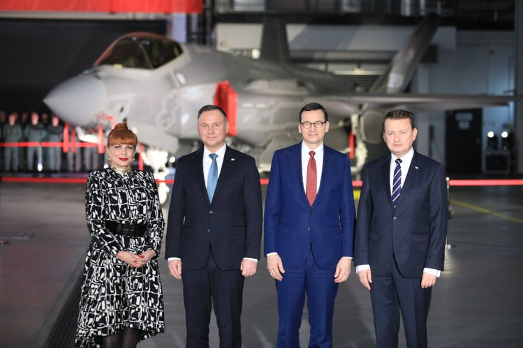 Ambasadorka USA Mosbacher, Duda, Morawiecki i Błaszczak.