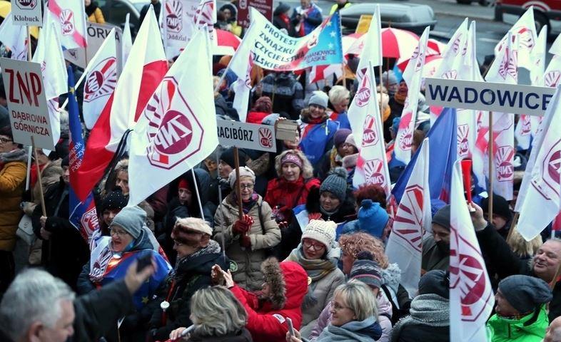 08.01.20 Katowice. Protest ZNP.