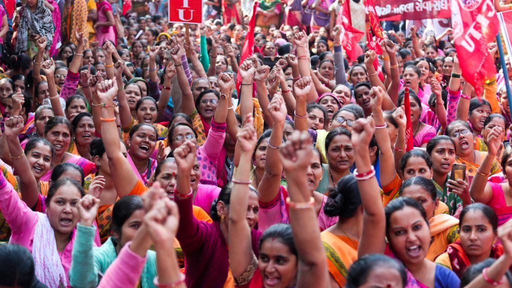 08.01.20 Ahmadabad. Strajkujące kobiety.