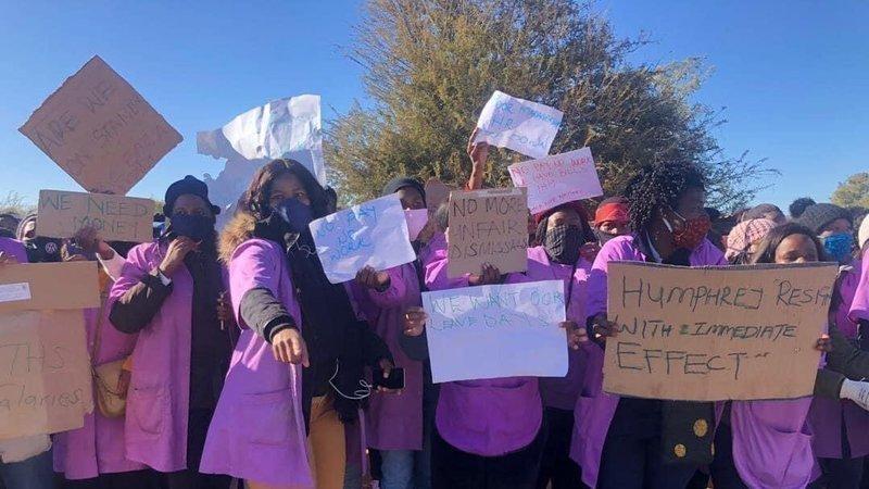 Strajkujący w Botswanie.