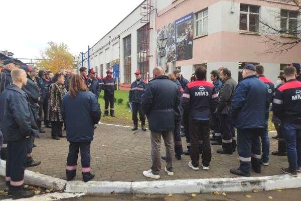 26.10 20 Strajkowali pracownicy Mińskiej Fabryki Silników MMZ.
