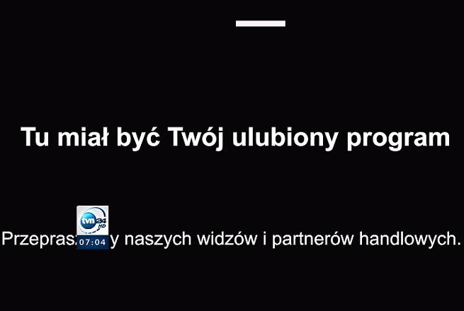 10.02.21 Akcja media bez wyboru. Czarny ekran w TVN24
