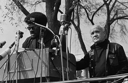 Jean Genet na wiecu Czarnych Panter.