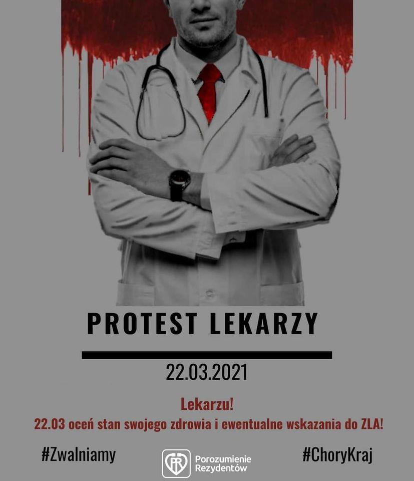 Plakat: Prtoest lekarzy