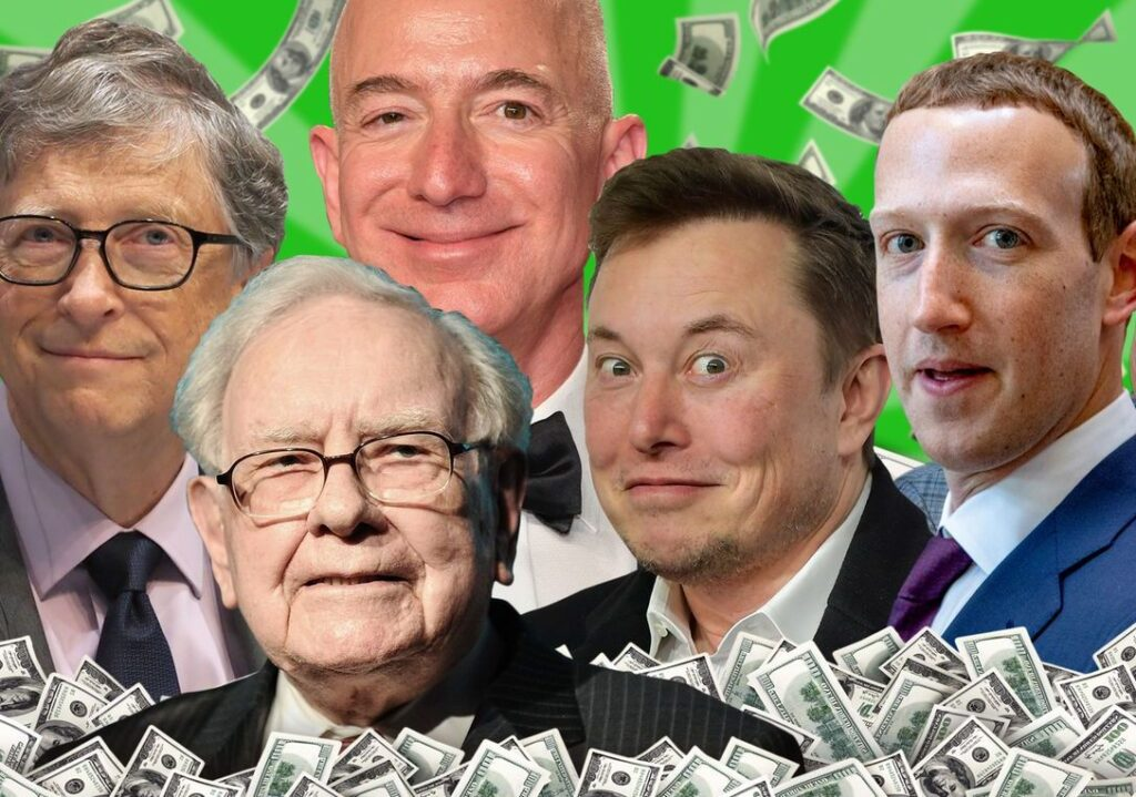 Gates, Buffett, Bezos, Musk, Zuckerberg