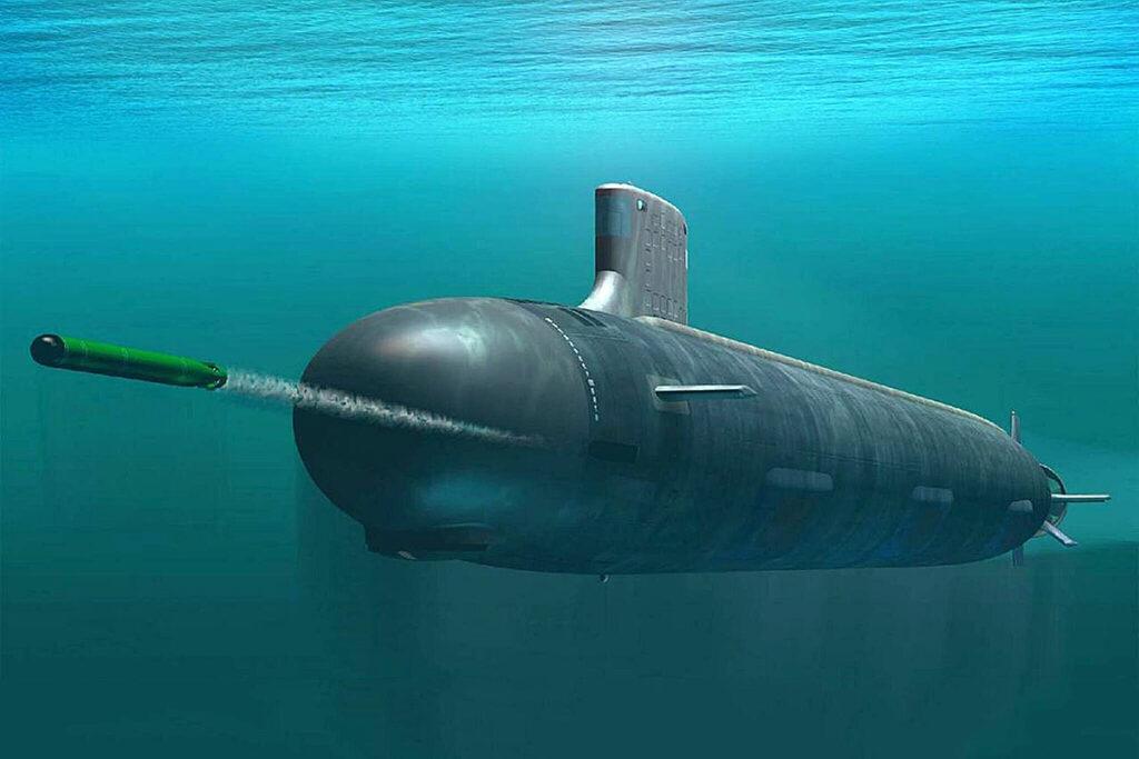 Amerykański okręt podwodny o napędzie nuklearnym.